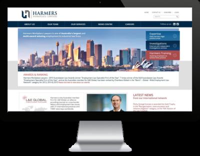 Harmers Workplace Lawyers website