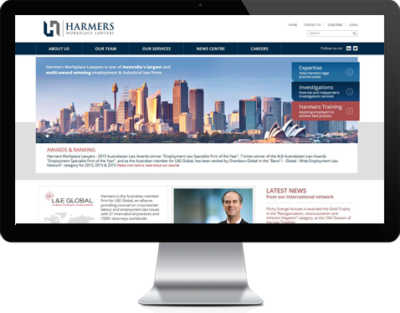 Harmers Workplace Lawyers website
